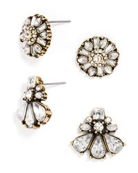 BaubleBar | Metallic Crystal Stud Set | Lyst