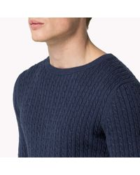 Tommy Hilfiger | Blue Gilles Cable Sweater for Men | Lyst