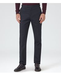 Reiss - Blue Wolff Pin Dot Trousers for Men - Lyst