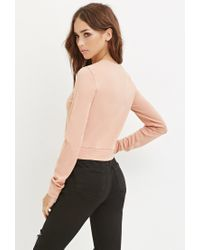 Forever 21 | Pink Knit Crop Top | Lyst