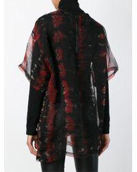 KTZ - Black Tie Dye Print Embroidered Top - Lyst
