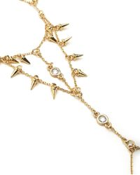 Juicy Couture | Metallic Spike Hand Chain Bracelet | Lyst