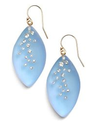 Alexis Bittar | 'lucite - Dust' Long Leaf Statement Earrings - Ice Blue | Lyst