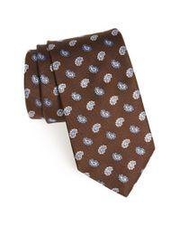 Eton of Sweden | Brown Floral Silk Tie for Men | Lyst