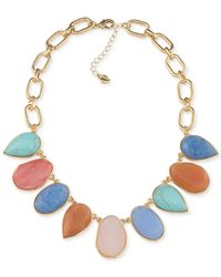 Carolee | Multicolor Gold-tone Multi-stone Necklace | Lyst