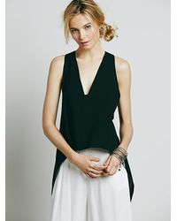 Free People | Black Apollo Extreme Tank | Lyst