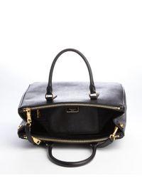 Prada - Black Saffiano Leather Convertible Satchel - Lyst