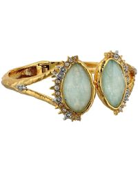 Alexis Bittar | Metallic Crystal Studded Spur Trimmed Hinge W/ Custom Amazonite Crystal Doublet Bracelet | Lyst