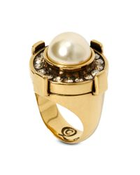 Alexander McQueen | Yellow Military Ring | Lyst