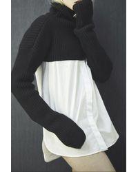 Amishboyish | Woolish Black And White Alpaga Sweatshirt | Lyst