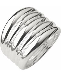 Links of London | Metallic Hope Sterling Silver Wide Ring | Lyst