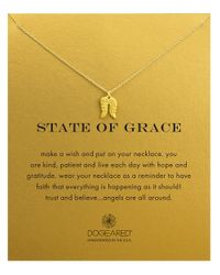 Dogeared | Metallic State Of Grace Necklace | Lyst