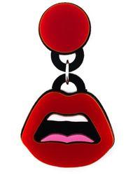 Yazbukey - Red 'C'Est Ahh' Earrings - Lyst