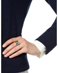 Iam By Ileana Makri | Metallic White Gold Ziggy Ring | Lyst