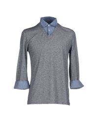 Eleventy - Blue Polo Shirt for Men - Lyst