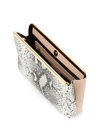 Ted Baker - Multicolor Exotic Colored Leather Clutch - Lyst