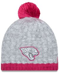 Lyst - Ktz Women s Jacksonville Jaguars Breast Cancer Awareness Knit ... 961cec069