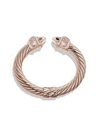 David Yurman | Pink Renaissance Bracelet With Diamonds In Rose Gold, 10mm | Lyst