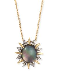 Alexis Bittar | Metallic Spiked Crystal Pendant Necklace | Lyst