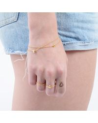 Lee Renee - Metallic Mini Shell & Pearl Bracelet Gold Vermeil - Lyst