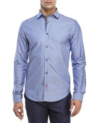 Moods Of Norway - Blue Arne Vik Pindot Sport Shirt for Men - Lyst