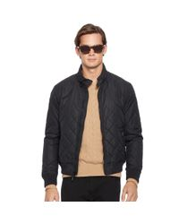 Polo Ralph Lauren - Black Quilted Bomber Jacket for Men - Lyst