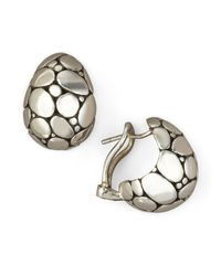 John Hardy | Gray Buddha Belly Earrings | Lyst