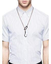 Eddie Borgo - Brown Hook Lariat Necklace for Men - Lyst