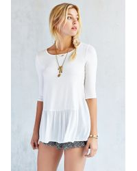 Silence + Noise - White Lisa Drop Waist Tunic Top - Lyst