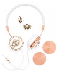 BaubleBar | Metallic Frends X Fortuna Layla Headphones Set-white | Lyst