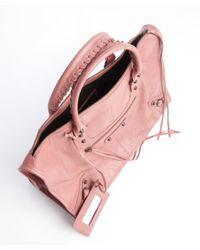 Balenciaga - Pink Rose Lambskin Large Work Bag - Lyst