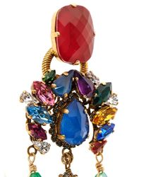 Erickson Beamon | Metallic Telepathic Crystal & Gold-Plated Earrings | Lyst
