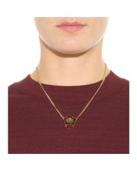 Marc By Marc Jacobs - Black Double Daisy Pendant Necklace - Lyst