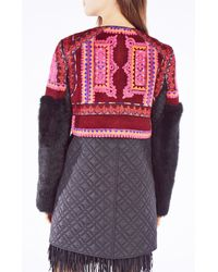 BCBGMAXAZRIA | Pink Runway Luka Coat | Lyst