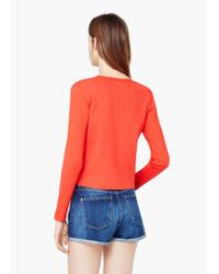 Mango - Red Fine-knit Sweater - Lyst