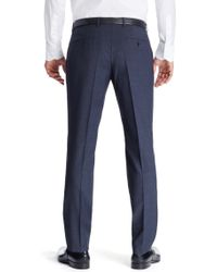 BOSS - Blue 'genesis' | Slim Fit, Virgin Wool Dress Pants for Men - Lyst