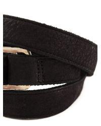 Hoorsenbuhs | Black Buckled Triple Wrap Bracelet | Lyst