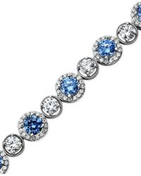 Arabella | Blue And White Swarovski Zirconia Bracelet (22-9/10 Ct. T.w.) | Lyst