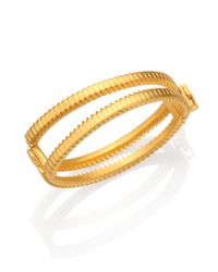 Eddie Borgo | Metallic Zip Bangle Bracelet | Lyst