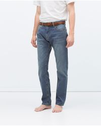 Zara | Blue Basic Jeans for Men | Lyst