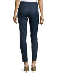 Stella McCartney - Blue Mid-Rise Fitted Wool Trousers - Lyst