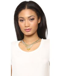 DANNIJO - Metallic Ezra Necklace - Gold/crystal/italian Mustard - Lyst