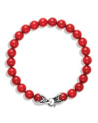 David Yurman | Red Spiritual Beads Bracelet with Coral | Lyst