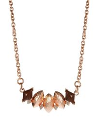 Gerard Yosca | Pink Chain Link Collar Necklace | Lyst