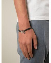 Paul Smith | Black Silver Skull Charm Bracelet for Men | Lyst