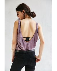 Truly Madly Deeply - Purple Flutter Tank Top - Lyst