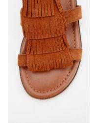 Urban Outfitters | Brown Minnetonka Maui Fringe Sandal | Lyst