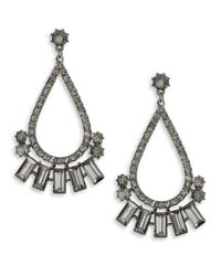 Cara | Metallic Multi-shape Drop Earrings | Lyst