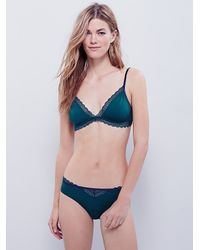 Free People | Green K.i.s.s Soft Bra | Lyst