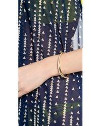 Michael Kors - Metallic Pave Crisscross Hinge Bracelet - Lyst
